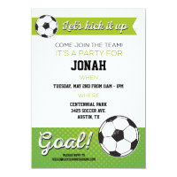 Soccer Birthday Party Invite