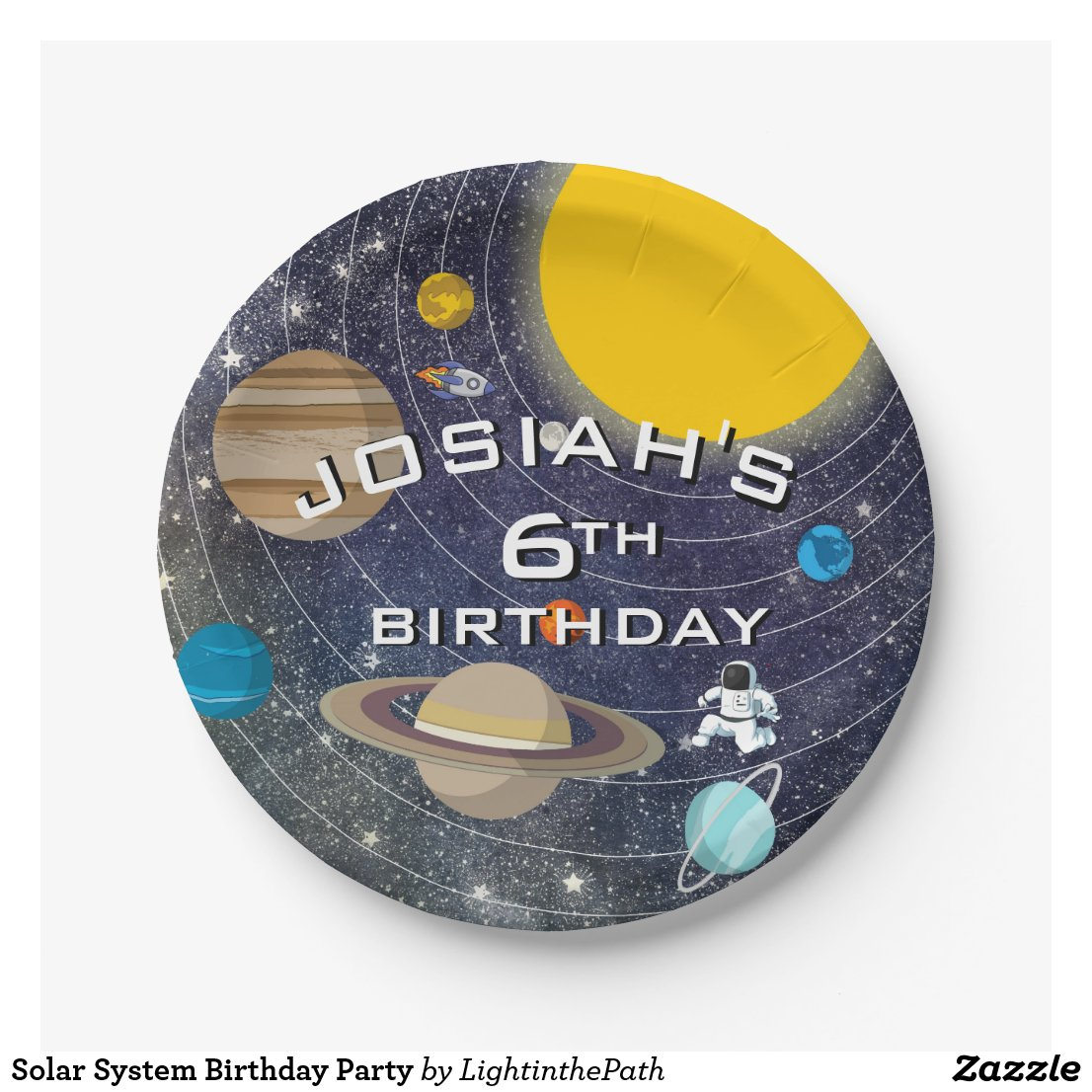 Solar System Birthday Party Plate