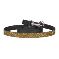 Sparkling Gold Glitter Dog Leash