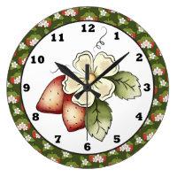 Strawberry Fruit Kitchen wall clock