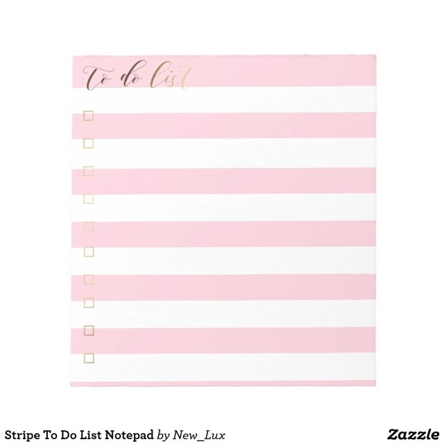 Stripe To Do List Notepad