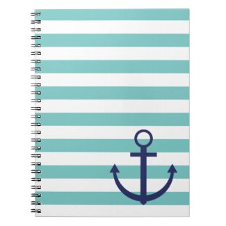 Striped anchor notebook