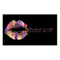 Stylish Lips Makeup Artist #23 Business Card