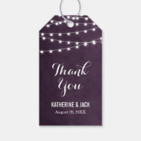 Summer String Lights Thank You Favor Tags Pack Of Gift Tags