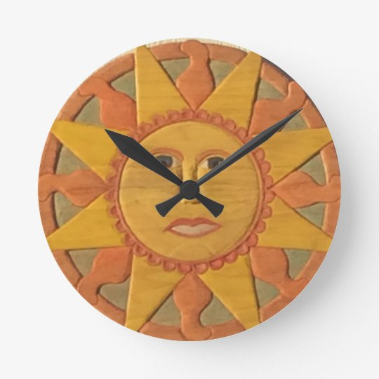 Sun Clock 1 Zazzle Co Uk