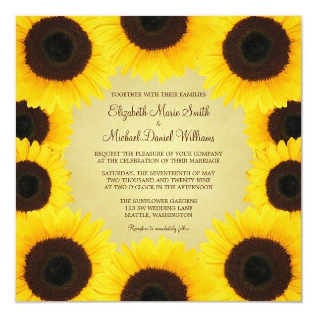 Sunflower Border Wedding