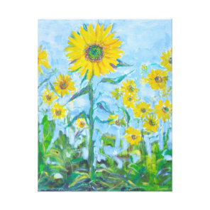 Sunflower Painting Canvas Print