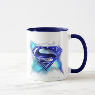 Superman Stylised | Blue White Crystal Logo Mug