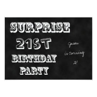 Surprise 21st Birthday Party Invitation