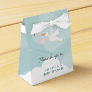 Sweet Delivery Stork Baby Shower Favour Box