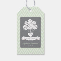 Sweet Mason Jar Neutral Baby Shower Gift Tag