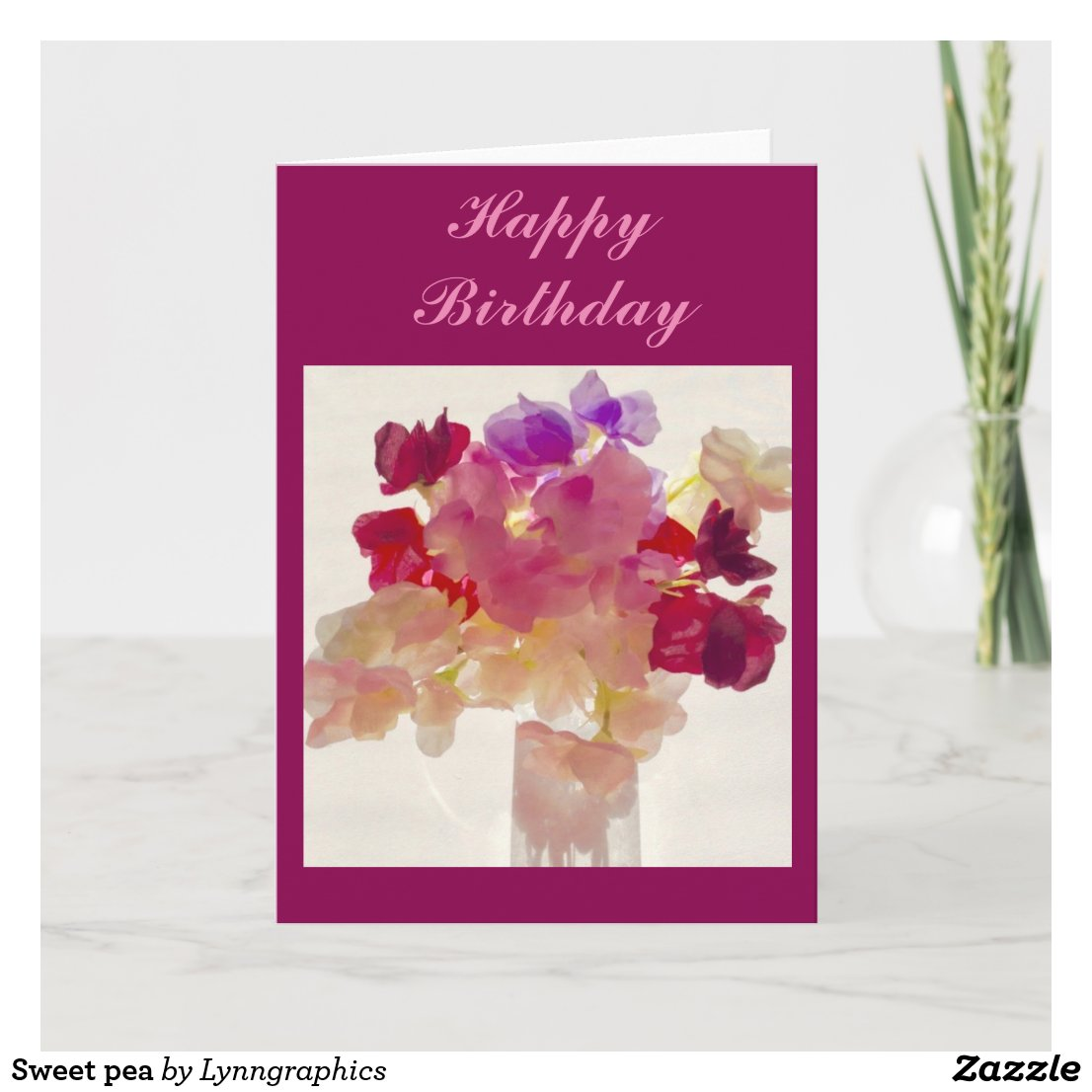 Sweet pea card