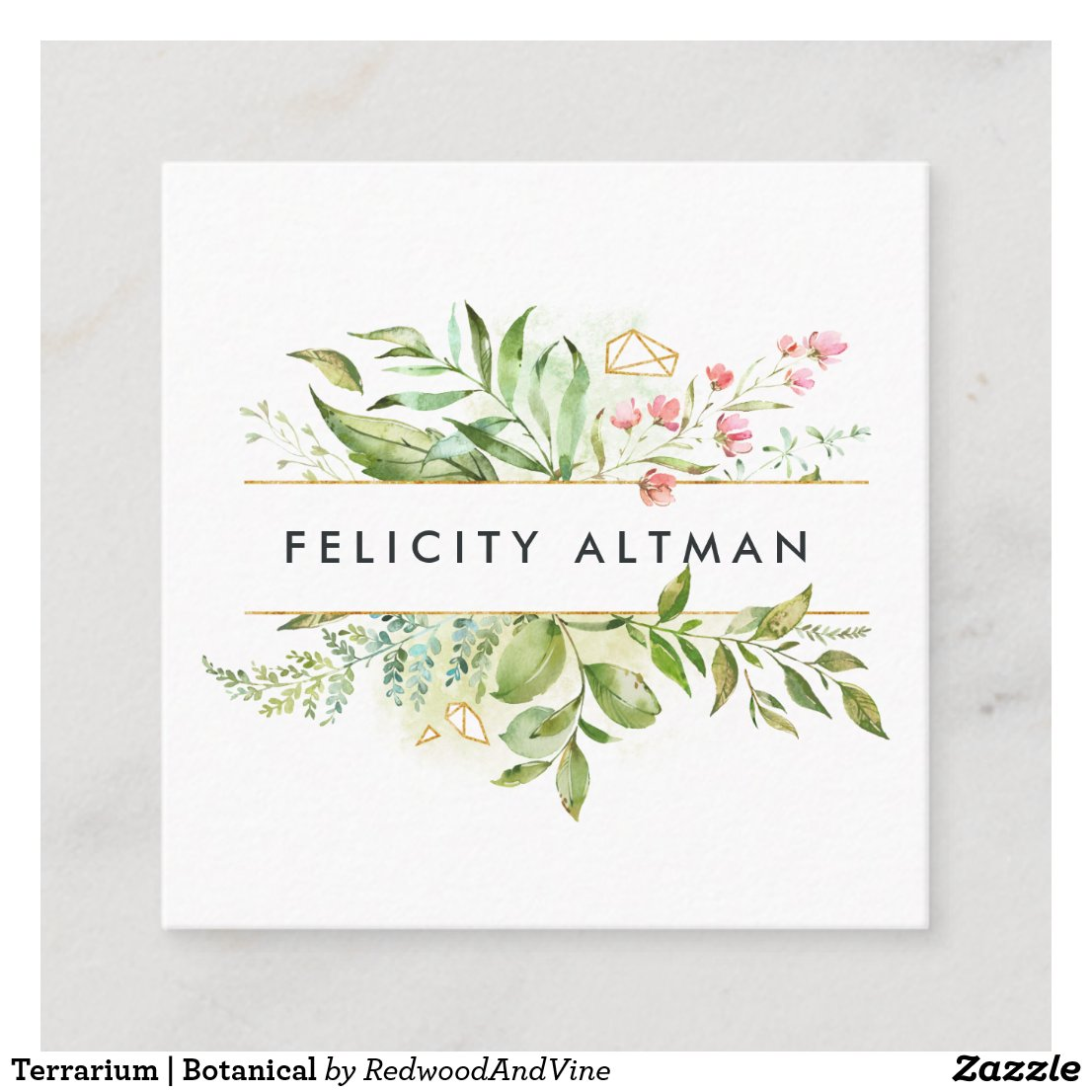 Terrarium | Botanical Square Business Card
