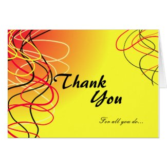 Thank you for all you do bright yell/colored card