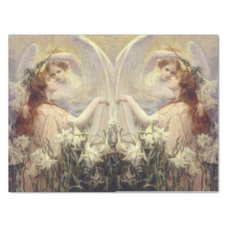 The angel message decoupage tissue paper