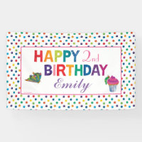 The Very Hungry Caterpillar Butterfly Birthday Banner