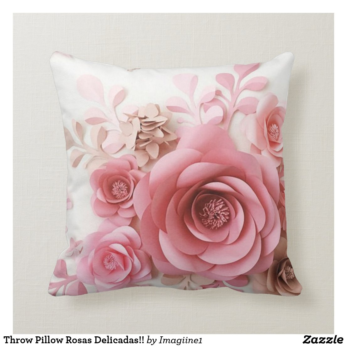 Throw Pillow Rosas Delicadas!!