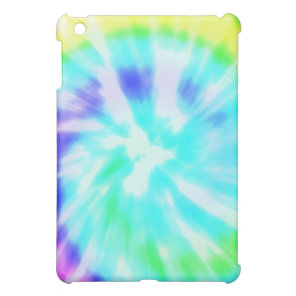 Tie dye watercolor pastels hipster ikat pattern case for the iPad mini