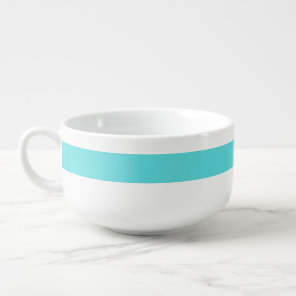 Tiffany Blue Personalised Striped Soup Bowl
