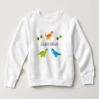 Toddler Fleece Shirt with Dinosaurs to Personalize