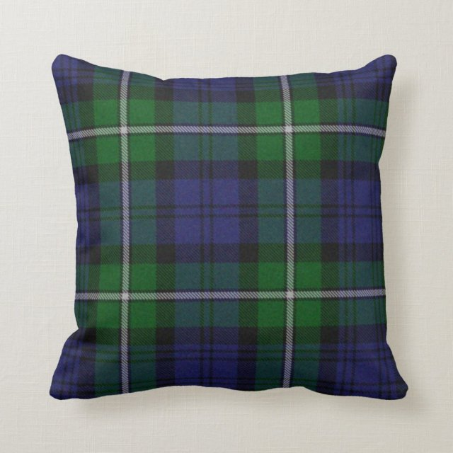 Traditional Forbes Tartan Plaid Pillow