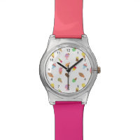 Trendy Colourful Ice Cream Pattern For Her Wrist Watches