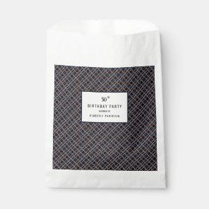 Trendy Geometric Pattern, Modern Birthday Party Favour Bags