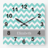 Chevron Monogram Wall Clock
