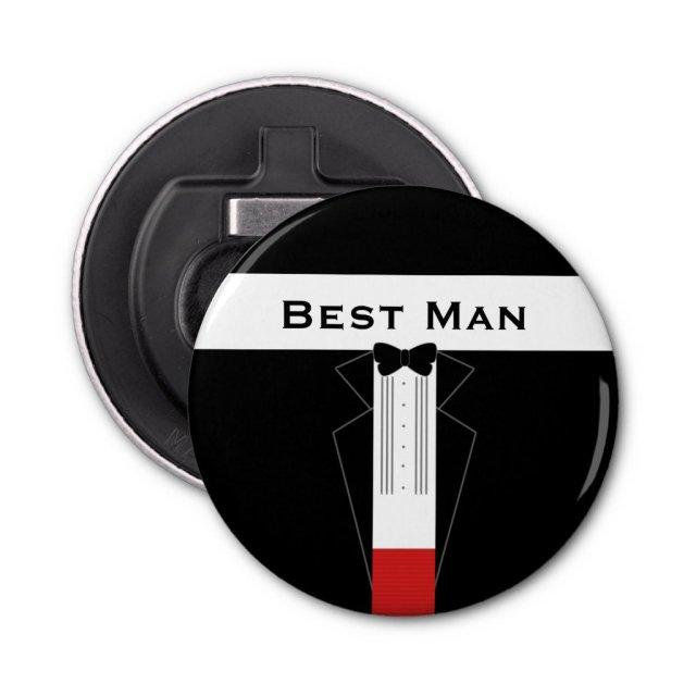 Best Man Customisable Bottle Opener Magnet