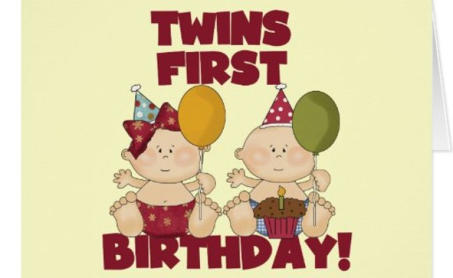 Twins 1st Birthday Boy Girl T Shirts And Gifts Greeting