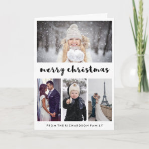 Typography and Photos | Modern Merry Christmas Holiday Card