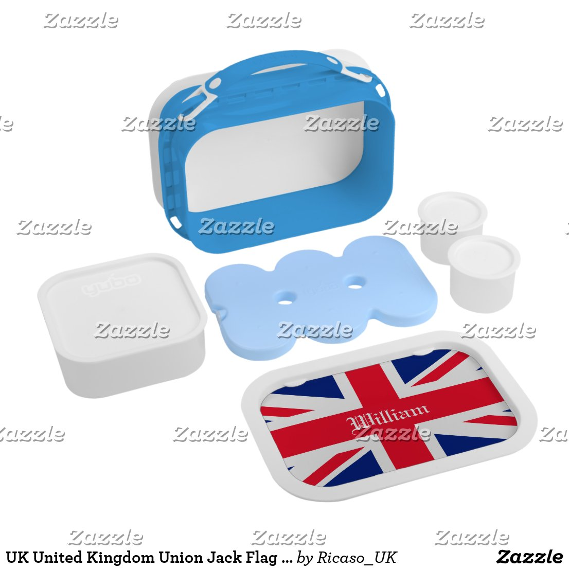 Union Jack Lunch Box style=