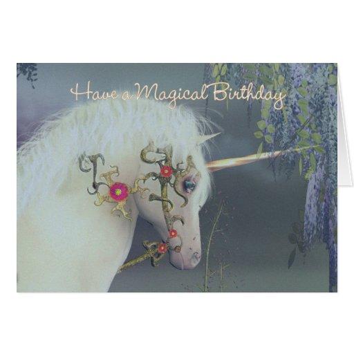 Unicorn Birthday Card Magical Birthday Zazzle