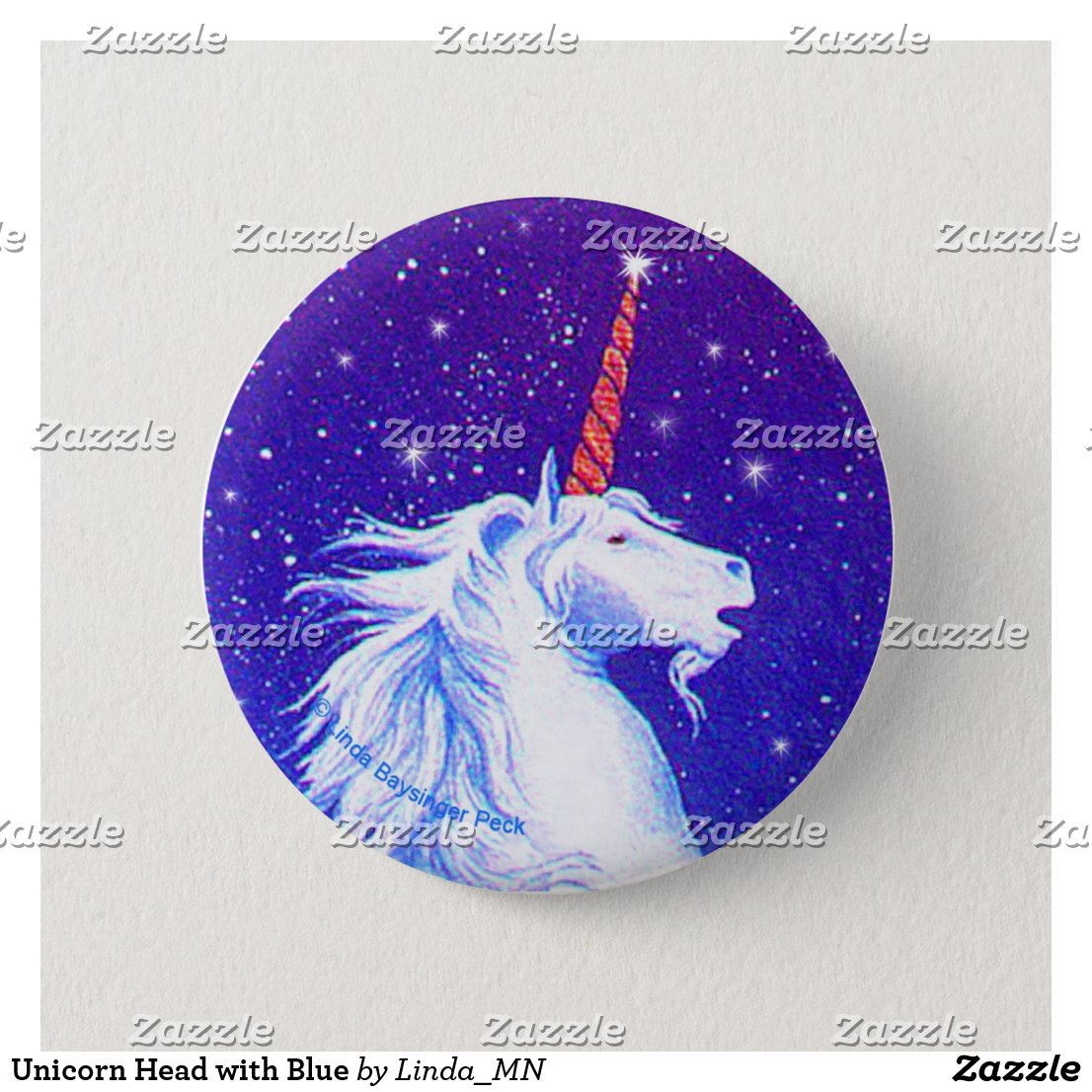 Unicorn Head with Blue