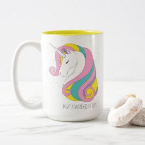 Unicorn Two-Tone Mug (Personalise it!)