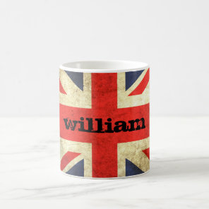 Union Jack Grunge Personalised Mug