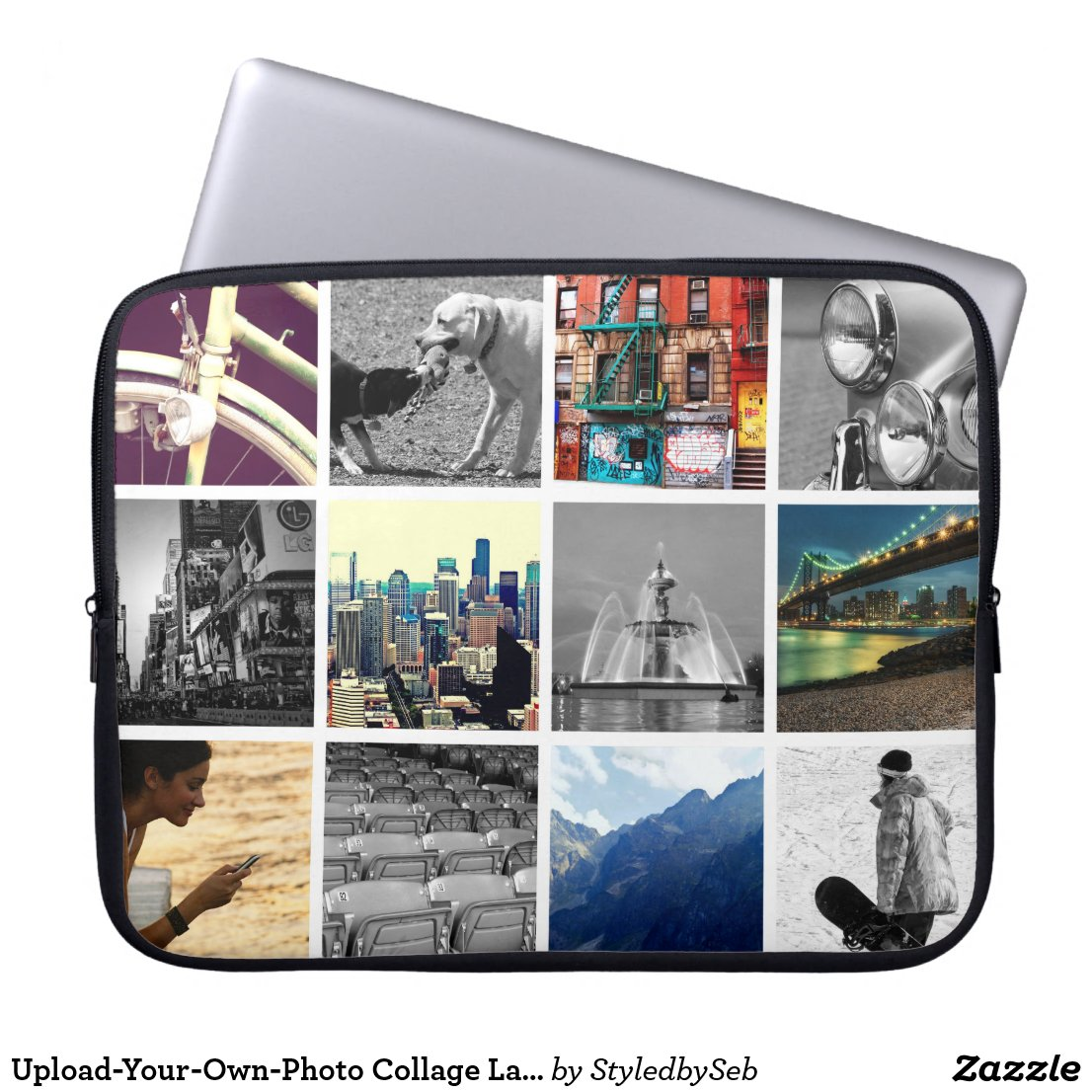 Photo Collage Laptop Sleeve
