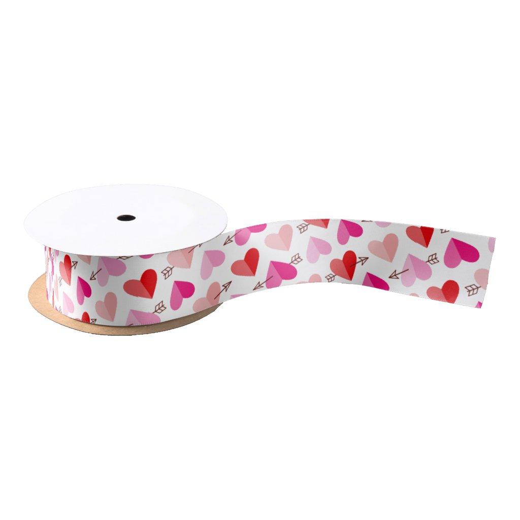 Valentine's Day Hearts and Arrow Ribbon