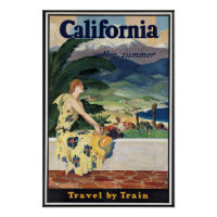 Vintage California Travel Poster