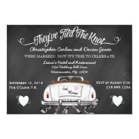 Vintage Convertible Chalkboard Post Wedding Invite