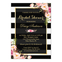 Vintage Floral Decor for Wedding Bridal Shower Invitation Card