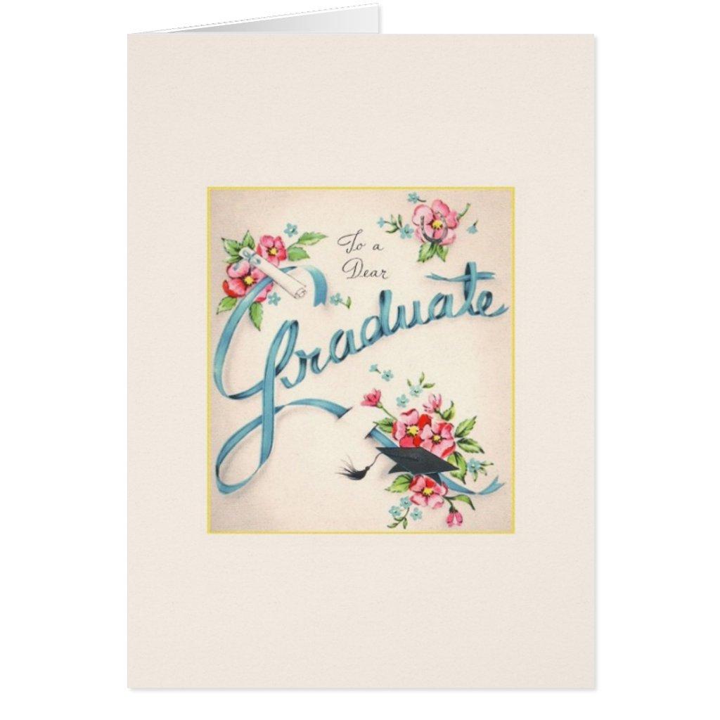 Vintage Graduation Greeting Card