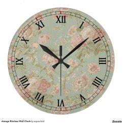 Retro Kitchen Wall Clock The Honest Coupon Vintage Zazzle