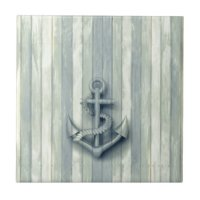 Nautical Anchor Ceramic Tiles   Zazzle.co.uk