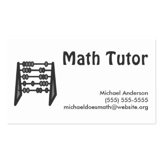 342+ Math Tutor Business Cards and Math Tutor Business