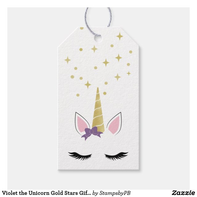 Violet the Unicorn Gift Tags