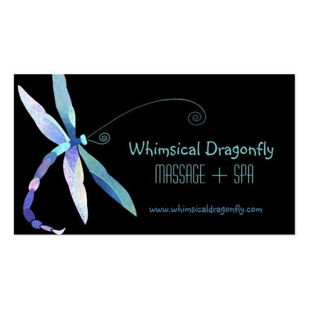Voguish Dragonfly Massage Spa Appointment Cards Business