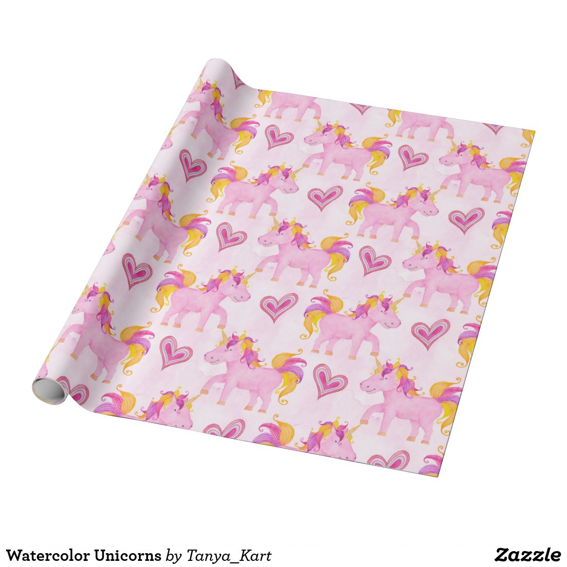 Watercolor Unicorns Wrapping Paper