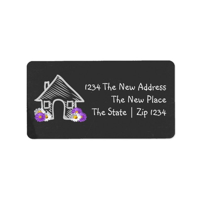 We Moved Home Labels