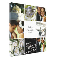 Wedding Collage Wrapped Canvas Print